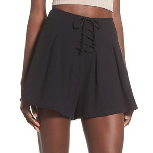 Lush Flowy Black Shorts
